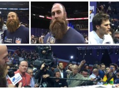 Da Beard hits SB XLIX Media Day with the 'Hairy' Questions