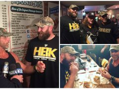The Heartbreak Kid & Da Beard meet HBK sandwich at Primanti Bros.