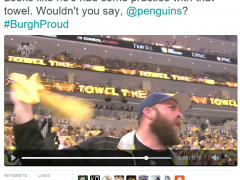 This bearded guy loves Da Pens!